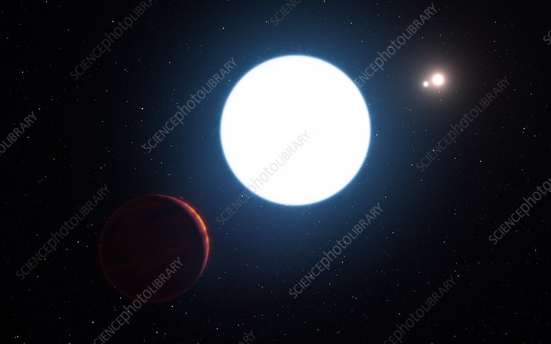 Star HD 131399A and exoplanet, illustration