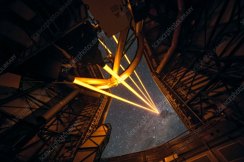 Artificial laser stars at the VLT over Paranal