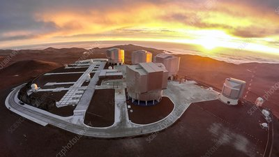 Very Large Telescope at sunset, Cerro Paranal, 2016