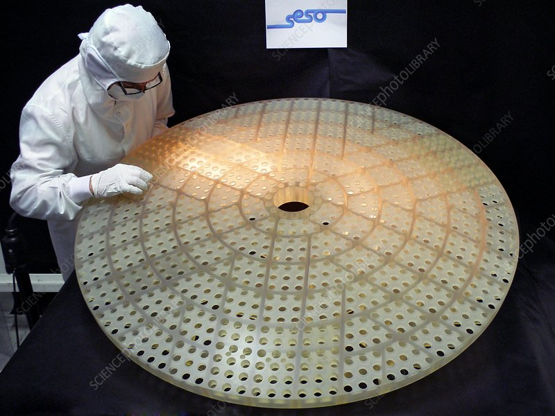 Construction of a secondary mirror for the VLT