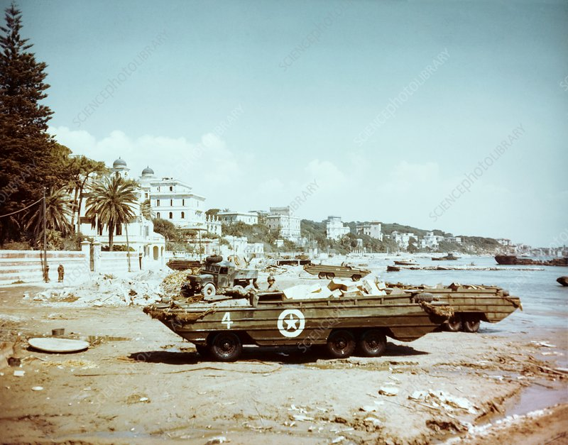 DUKW amphibious vehicle, Italy