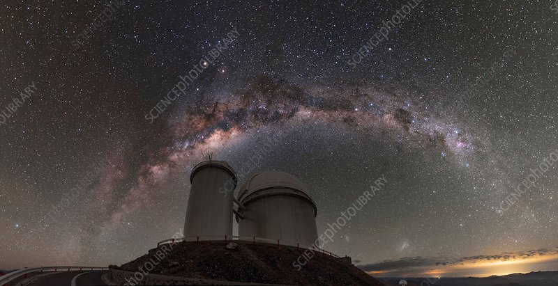 Milky Way over 3.6-metre telescope at La Silla