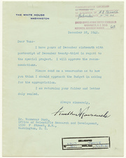 Manhatten Project letter