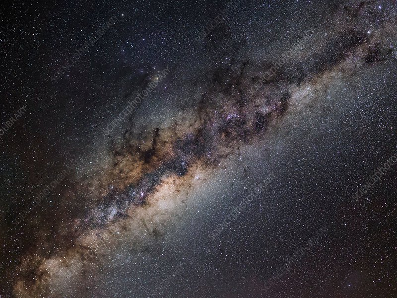Milky Way galactic centre, optical image