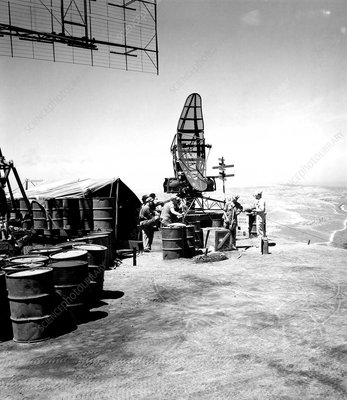 US radar station, Mount Suribachi, Iwo Jima, Japan