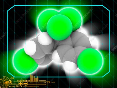 DDT insecticide molecule