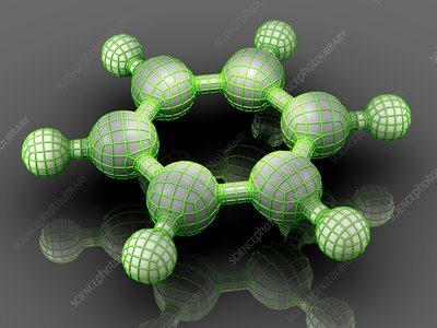 Benzene organic compound molecule