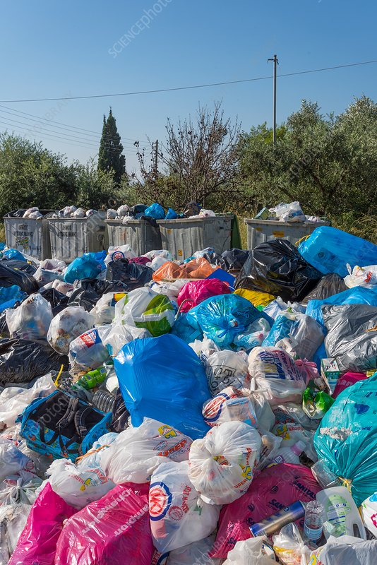 Rubbish overflow, Greece