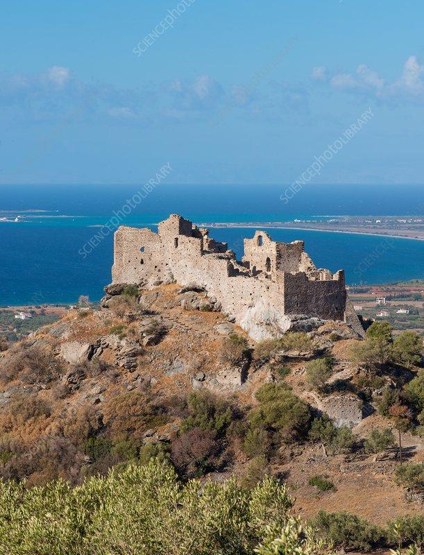 Ruins of Mesochora castle, Greece