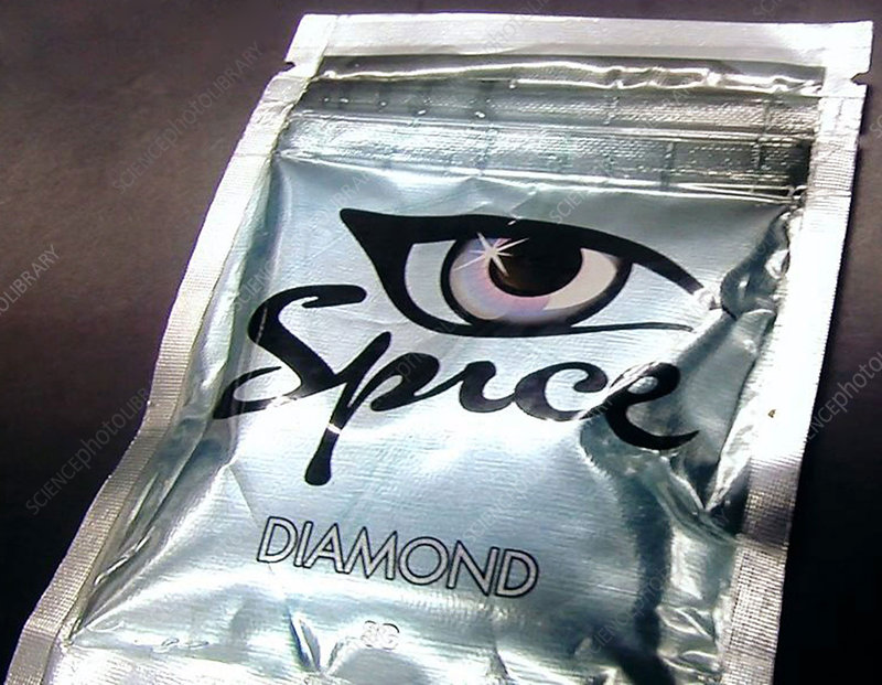 Packet of Spice synthetic cannabis