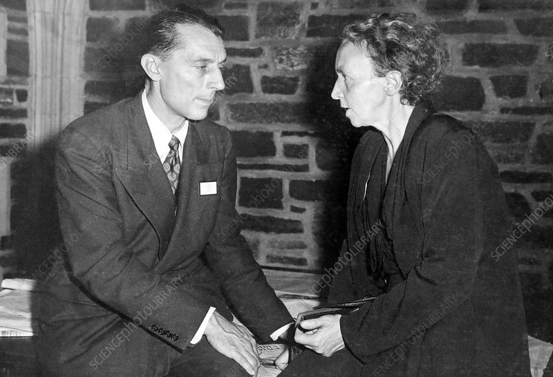 Frederic and Irene Joliot-Curie, French nuclear physicists