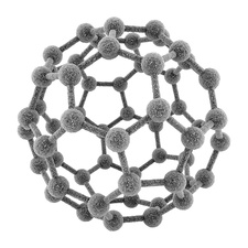 Fullerene molecule, illustration