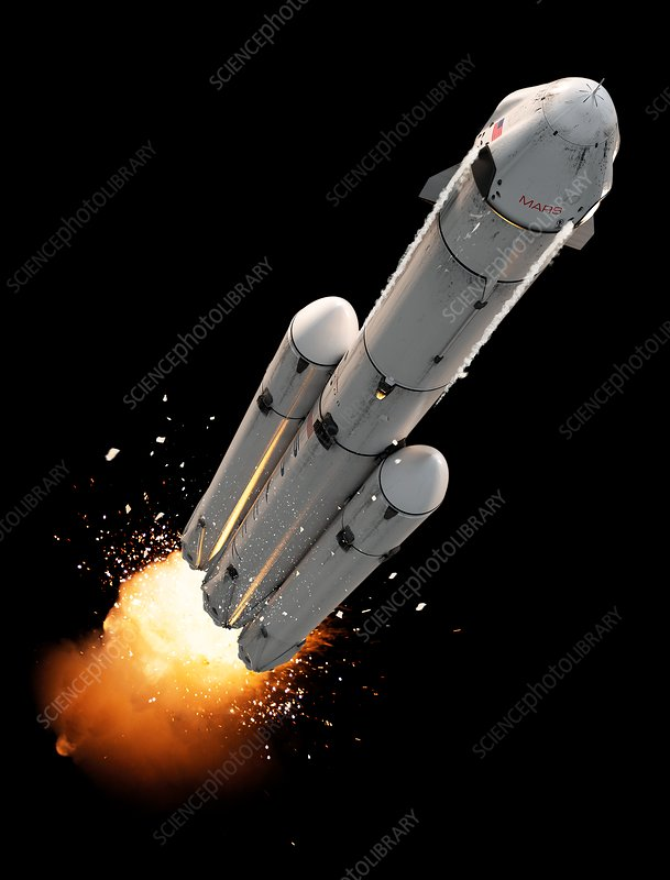 Dragon SpaceX Mars spacecraft, illustration