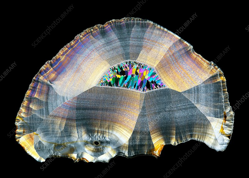 Geode, thin section micrograph