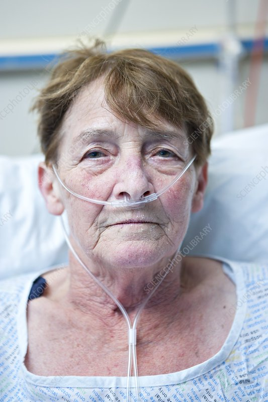 Patient with nasal cannula