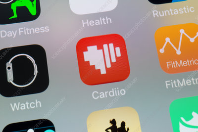 Health app icons on smartphone