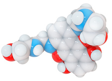 Mitoxantrone molecule, illustration