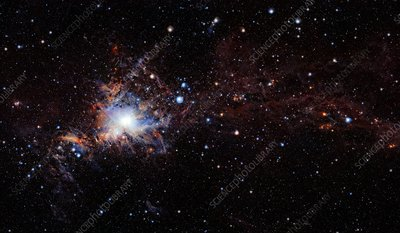 Orion A molecular cloud, VISTA image