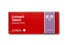 Lisinopril drug packaging