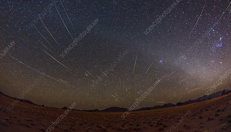 Perseids meteor shower, Namibia