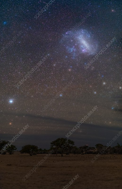 Large Magellanic Cloud over Namibia