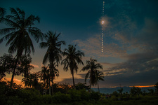 Total solar eclipse of March 2016, composite sequence