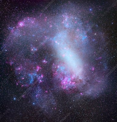 Large Magellanic Cloud, optical image