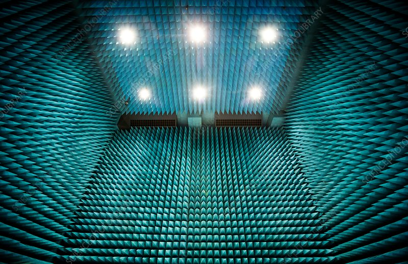 Maxwell test chamber, radio anechoic tiling