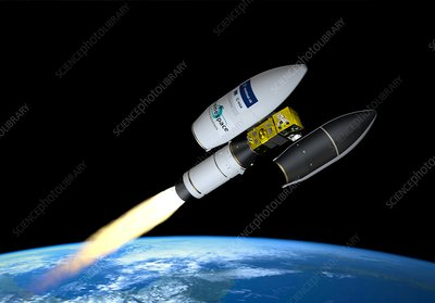 Launch of the Sentinel-2B satellite, illustration