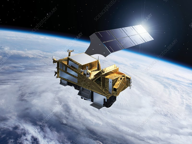 Sentinel-5 satellite in orbit, illustration