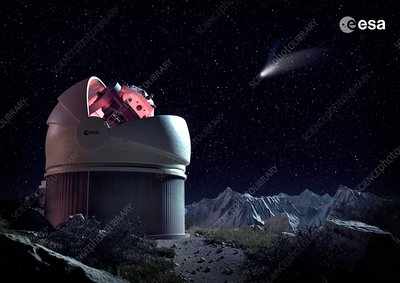Flyeye telescope observatory, illustration