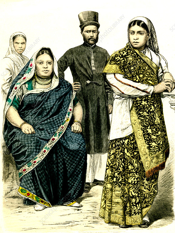 19th Century Indian people, illustration