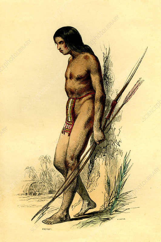 19th Century French Guiana man, illustration