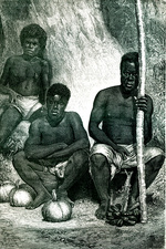 19th Century New Caledonian merchants, illustration