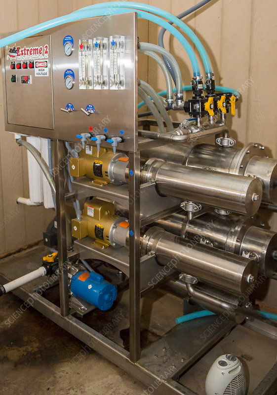 Maple syrup production, reverse osmosis machine