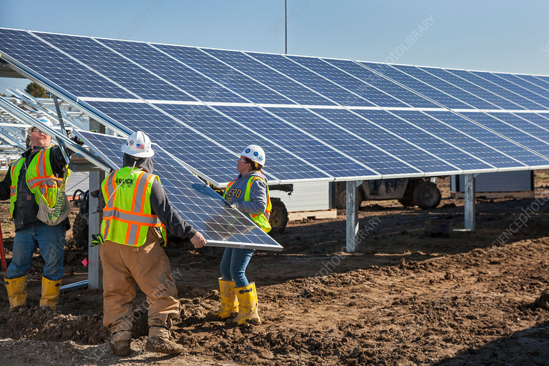 Solar power facility construction