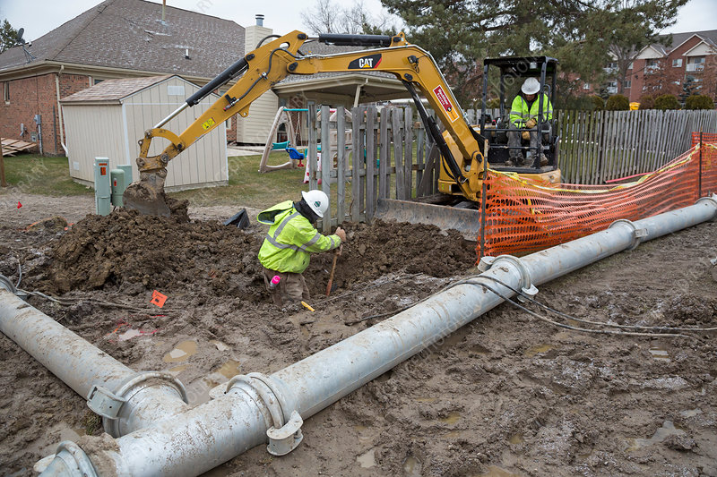 Sewer collapse and repair works