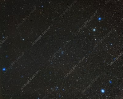 Cancer constellation, optical image