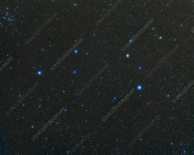 Leo constellation, optical image