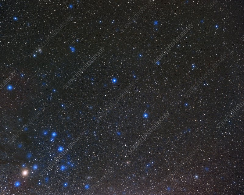 Libra constellation, optical image