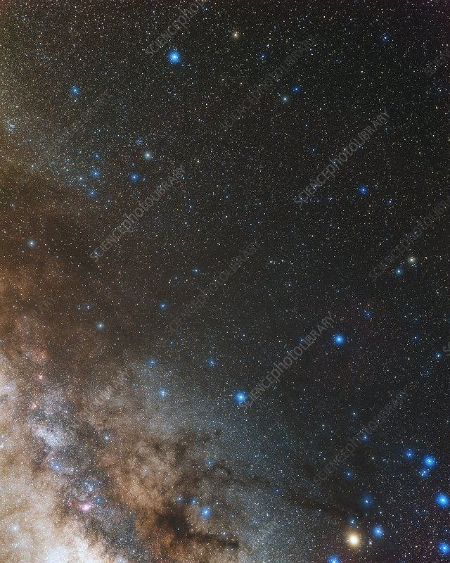 Ophiuchus and Milky Way, optical image