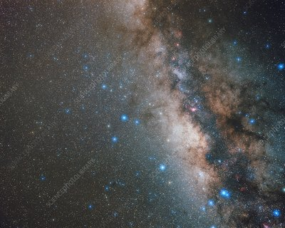 Sagittarius and Milky Way, optical image