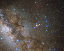 Scorpius and Milky Way, optical image