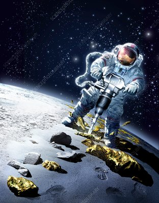 Mining in space, conceptual image