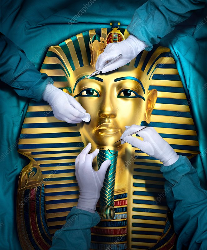 Tutankhamun restoration, illustration