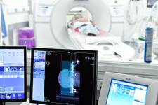 CT scan during deep brain stimulation surgery