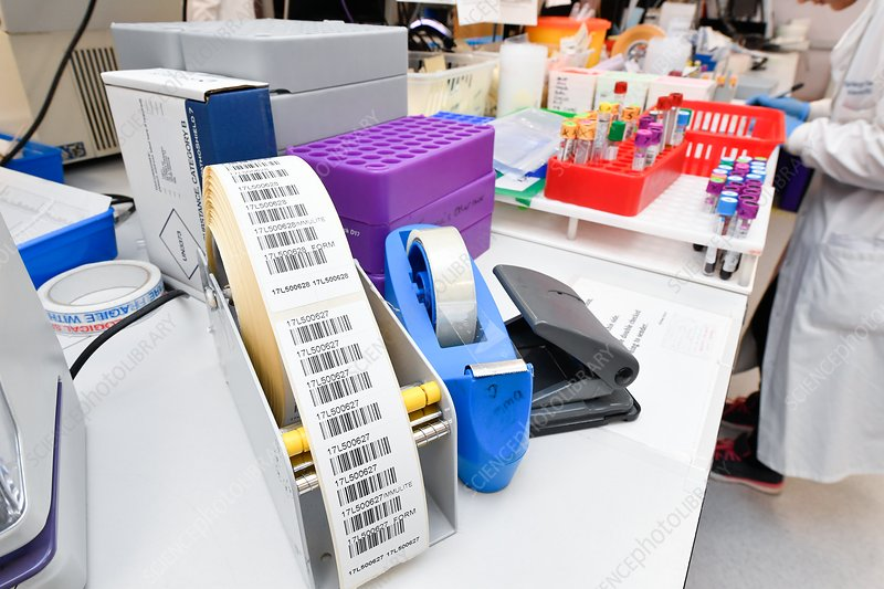 Pathology sample labelling