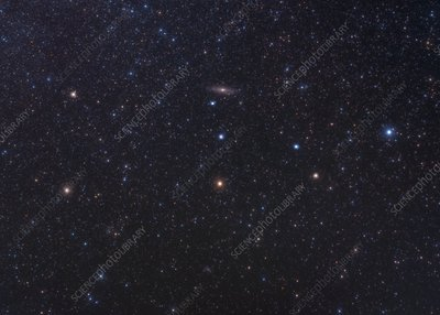 Andromeda constellation, optical image