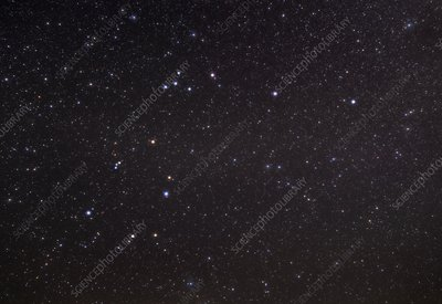 Aquarius constellation, optical image