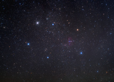 Auriga constellation, optical image